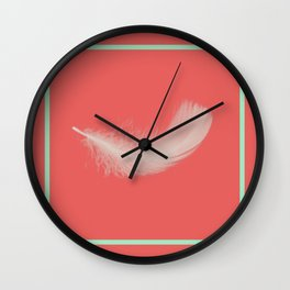 Coral Feather  Wall Clock