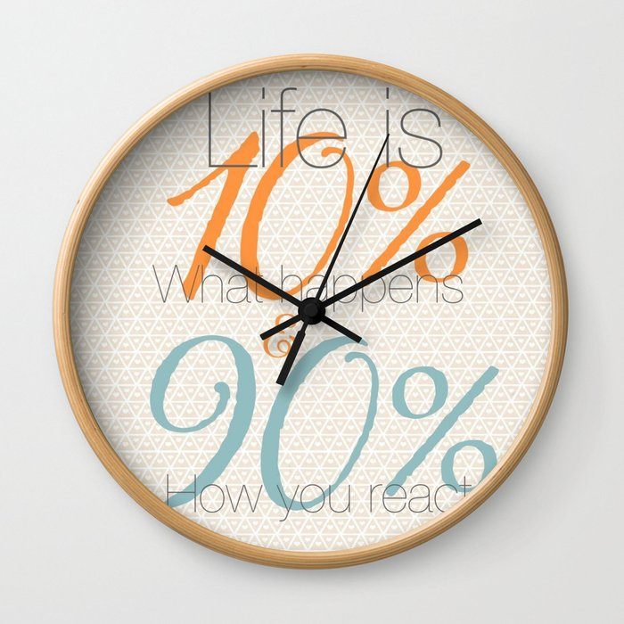 10/90 Wall Clock