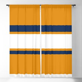 Orange and blue stripes Blackout Curtain
