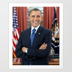 Barack Obama portrait Art Print