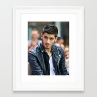 zayn malik Framed Art Prints featuring Zayn Malik by behindthenoise