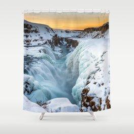 Gullfoss Waterfall Iceland Ultra HD Shower Curtain