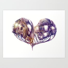 Daft Punk of Love Art Print