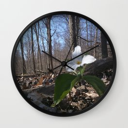 Trillium Fighting Spring Wall Clock