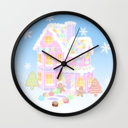Gingerbread House (pastel) Wall Clock