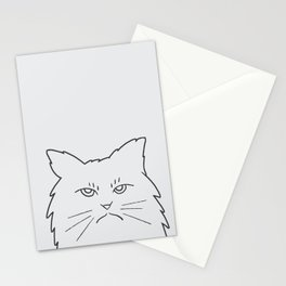 Angry Kitty Stationery Cards