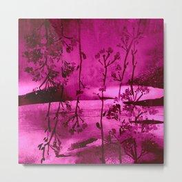 fuchsia landscape Metal Print