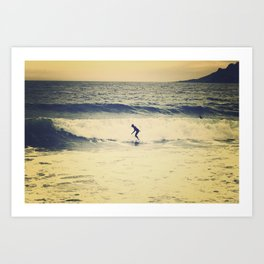 Surf  photography in Cannes French Riveria Art Print
