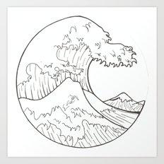 The wave of Kanagawa Art Print