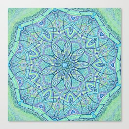 Heart of the Forest - Mandala Design Canvas Print
