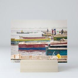 Salt lake, Senegal. Mini Art Print