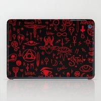 notebook iPad Cases featuring notebook scribbles for satan by Mel Fox