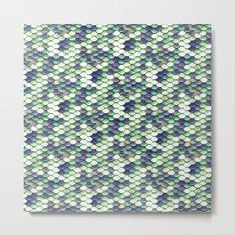Green Mermaid Sclaes Metal Print