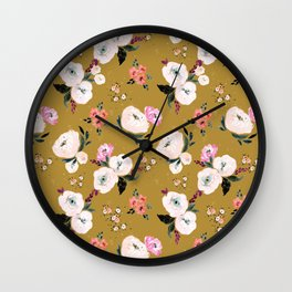 Janice Floral Wall Clock