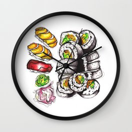 Yummy Sushi Wall Clock