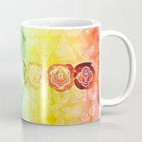 om Mugs featuring OM by Sara Eshak
