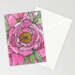 Pink Peonies Stationery Cards