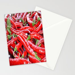 Market Fresh Red Chili Peppers Stationery Cards