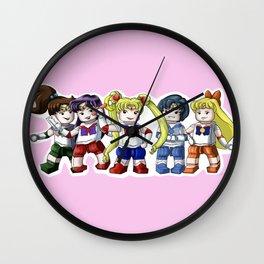 Legolized Sailor Scouts Wall Clock