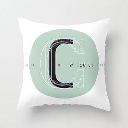 C c Throw Pillow
