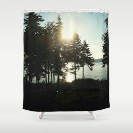 maine pines Shower Curtain