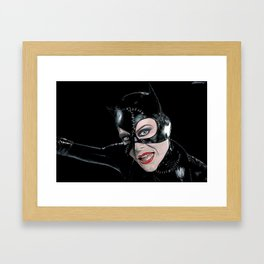 Catwoman Returns Framed Art Print