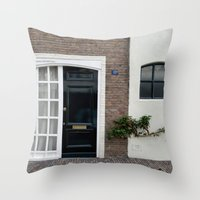door Throw Pillows featuring Door by Marieken