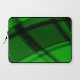 Charcoal salad curved strokes with crisp, chaotic meshes of intersecting Scottish stripes. Laptop Sleeve