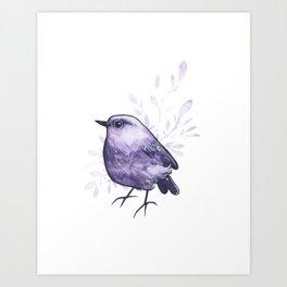 Amethyst Bird Art Print