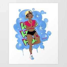 Hip hop lover. Art Print