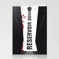reservoir dogs Stationery Cards featuring Reservoir Dogs Tribute Poster by stefano manca