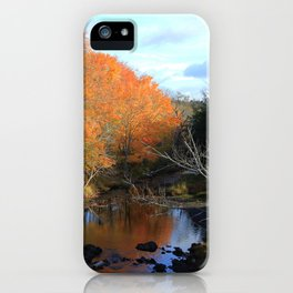 Autumn Reflections Grist Mill iPhone Case
