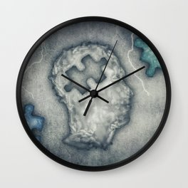 Puzzled Head Wall Clock