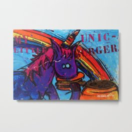 My Little Unic Burger Metal Print