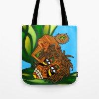 jojo Tote Bags featuring Congo JoJo by BohemianBound
