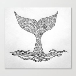 Whale Tail Tale Canvas Print