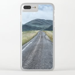 The Road to the Mountains Clear iPhone Case