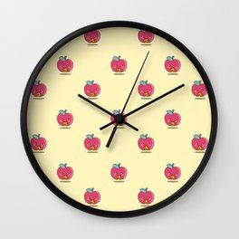 Unhealthy food pattern Wall Clock