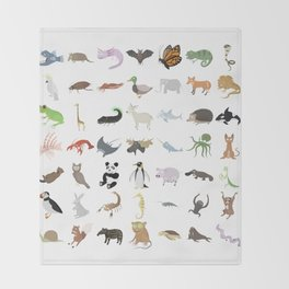 Animals Throw Blanket