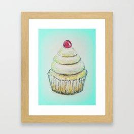 Cupcake, cupcake illustration, food illustration, dessert illustration Framed Art Print