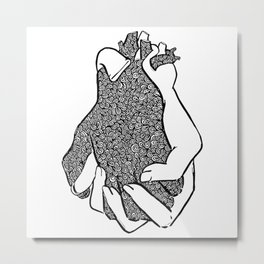 Entangled- Black Metal Print