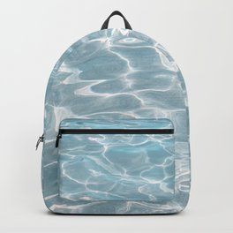 Crystal Clear Blue Water Photo Art Print | Crete Island Summer Holiday | Greece Travel Photography Backpack
