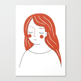 Red Haired Woman Canvas Print