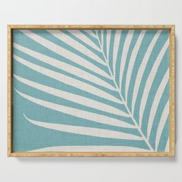 Vintage Palm Frond Serving Tray