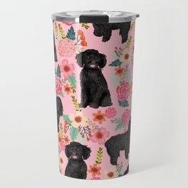 Black Cockapoo Floral dogs, dog blanket, dog mug, cute dog breeds Travel Mug