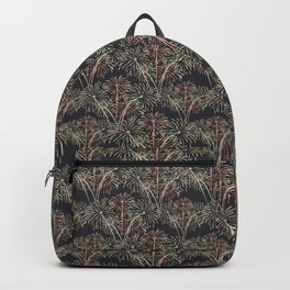Fireworks Bloom Pink on Charcoal Backpack