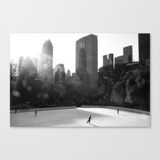 Central Park Skaters Canvas Print