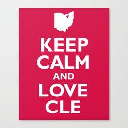 Keep Calm and Love CLE Canvas Print
