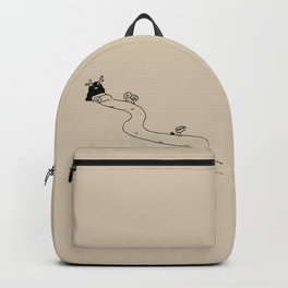 A road to east - Linen Backpack