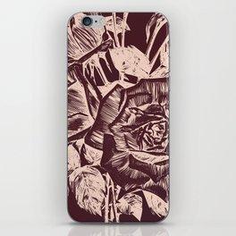 Burgundy in Rose Gold iPhone Skin